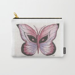 Ink and Watercolor Butterfly in rose colored tones Carry-All Pouch