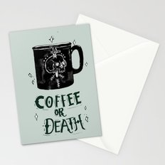 Coffee or Death Stationery Cards