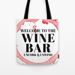 wine bar no. 1 Tote Bag