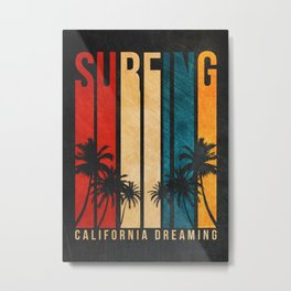 Surf Vintage Retro Design Metal Print