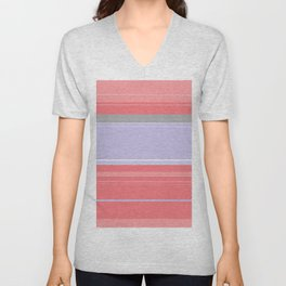 Pink and Purple Plaid Unisex V-Neck