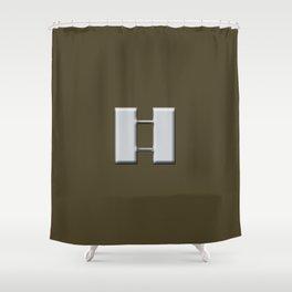 Captain  (Brown) Shower Curtain