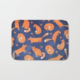 Foxes at Night - Cute Fox Pattern Bath Mat