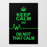keep calm Canvas Prints featuring Keep Calm by Alice Gosling