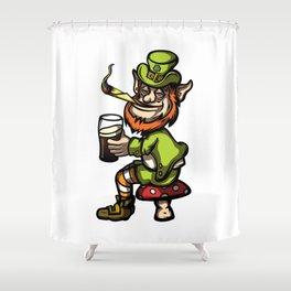 Wasted Leprechaun Shower Curtain