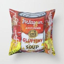 Gluttony Soup Preserves Throw Pillow