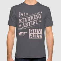 Feed an Artist Asphalt SMALL Mens Fitted Tee