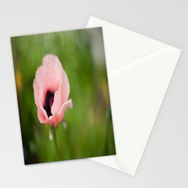 Peachy poppy Stationery Cards