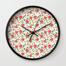 Pink Poppy Leggings Wall Clock