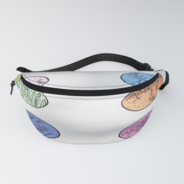 pigmented coloured flowers Fanny Pack