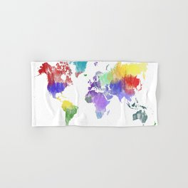 Colorful world map Hand & Bath Towel