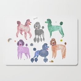 Poodles by Veronique de Jong Cutting Board