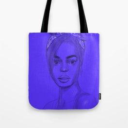 Joan in purple Tote Bag