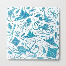 Marine Life Diversity Metal Print