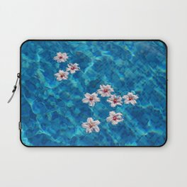 Almond blossom floating in swimming pool Laptop Sleeve