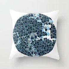 Blue Circles. Throw Pillow