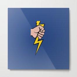 A vectorised Roy Lichtenstein, lining bolt. Metal Print