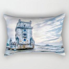 Belém Tower, Lisbon (Portugal) Rectangular Pillow