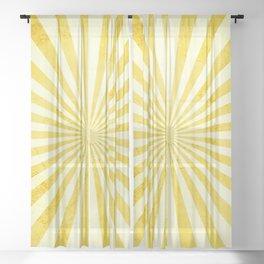 Retro Yellow Sunshine Sheer Curtain