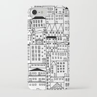 cityscape iPhone & iPod Cases featuring cityscape by Anna Grunduls