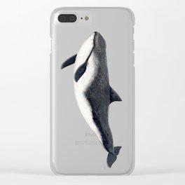 Harbour porpoise (Phocoena phocoena) Clear iPhone Case