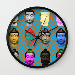 Buddha Heads Wall Clock