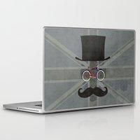 brompton Laptop & iPad Skins featuring Bicycle Head by Wyatt Design
