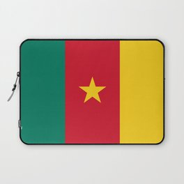 Green Red and Gold Flag of Cameroon with Star Laptop Sleeve
