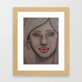Pouty Face  Framed Art Print