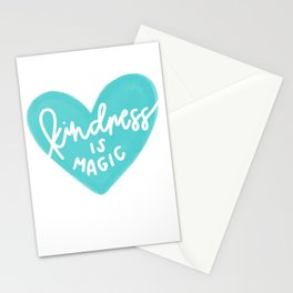 Kindness is Magic Heart Teal Stationery Cards