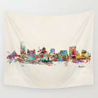 tennessee Wall Tapestries featuring memphis tennessee by bri.buckley