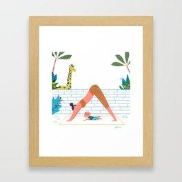 in a yoga state of mind Framed Art Print