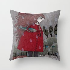 At the Harbor Throw Pillow