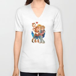 11th Doctor Who and Companions HUG Unisex V-Neck