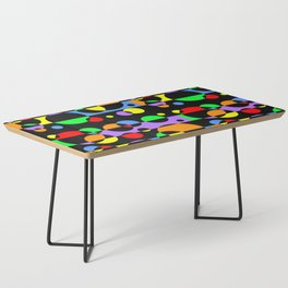 Rainbow Geometric Multicolored Modern Circle Pattern Coffee Table