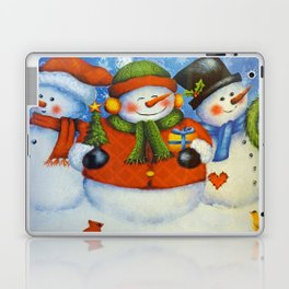 3 Happy Snowmen Laptop & iPad Skin