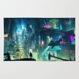 Cyberpunk City Rug