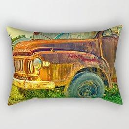 Old Rusty Bedford Truck Rectangular Pillow