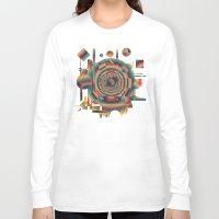 glitch Long Sleeve T-shirts featuring glitch by Blaz Rojs