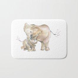 Mother's Love - Elephant Family Bath Mat