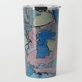 Let's Have A Beach Day Abstract Modern Beach Painting Travel Mug