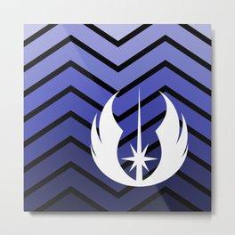 Jedi Navy Ombre Metal Print