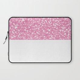 Faux Pink Bubblegum Sparkles Laptop Sleeve