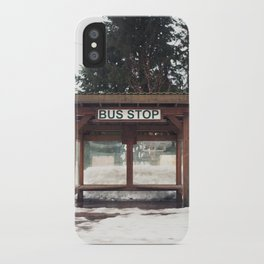 Slocan City Bus Stop iPhone Case