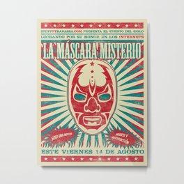La Mascara Misterio Metal Print