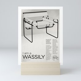 Chairs - A tribute to seats: I'm a Wassily (poster) Mini Art Print