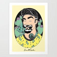 Jack, the cactus man (color version) Art Print