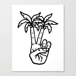 Peace Palms Canvas Print