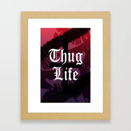 Thug Life // Sunset Colors Framed Art Print