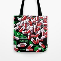 pills Tote Bags featuring Pills by noirlac